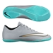 Nike Mercurial Victory V CR7 Indoor Soccer Shoes (Metallic Silver/Hyper Turquoise/Black)
