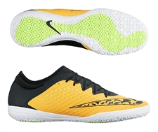 Nike FC247 Elastico Finale III Indoor Soccer Shoes (Laser Orange/Volt/White/Black)