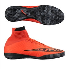 Nike MercurialX Proximo IC Indoor Soccer Shoes (Bright Crimson/Black)