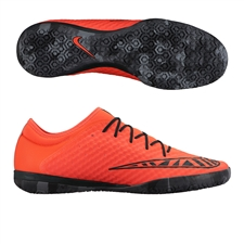 Nike MercurialX Finale IC Indoor Soccer Shoes (Bright Crimson/Black)