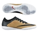 Nike MercurialX Finale IC Indoor Soccer Shoes (Metallic Gold/Challenge Red/Black/White)