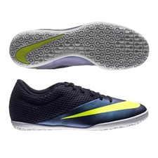 Nike MercurialX Pro IC Indoor Soccer Shoes (Squadron Blue/Volt/Black)