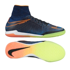 Nike HypervenomX Proximo Street IC Indoor Soccer Shoes (Black/Total Orange/Racer Blue/Black)