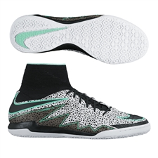 Nike HypervenomX Proximo Street IC Indoor Soccer Shoes (White/Green Glow/Black)