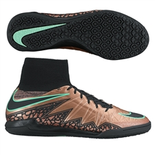 Nike HypervenomX Proximo IC Indoor Soccer Shoes (Metallic Red Bronze/White/Black)