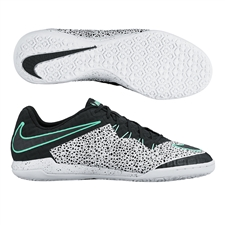 Nike HypervenomX Finale Street IC Indoor Soccer Shoes (White/Green Glow/Black)