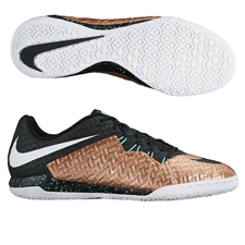 Nike HypervenomX Finale IC Indoor Soccer Shoes (Metallic Red Bronze/Black/White/Green Glow)