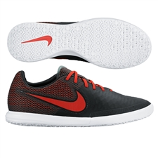 Nike MagistaX Finale IC Indoor Soccer Shoes (Black/White/Challenge Red)
