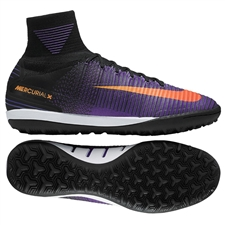 Nike MercurialX Proximo II TF Turf Soccer Shoes (Black/Total Crimson/Hyper Grape)