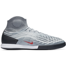 Nike MagistaX Proximo II DF IC Indoor Soccer Shoes (Cool Grey/Varsity Red/Black/Wolf Grey)