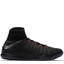 Nike HypervenomX Proximo II DF IC Indoor Soccer Shoes (Black/Metallic Silver/Anthracite)