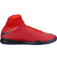 Nike HypervenomX Proximo II DF IC Indoor Soccer Shoes (University Red/Black/Bright Crimson)