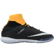 Nike HypervenomX Proximo II DF IC Indoor Soccer Shoes (Laser Orange/White/Black/Volt)