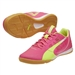 Puma EvoSpeed Sala Indoor Soccer Shoes (Pink/Yellow/White)