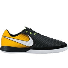 Nike TiempoX Finale IC Indoor Soccer Shoes (Black/White/Laser Orange/Volt)