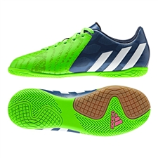 Adidas Predito Instinct Youth Indoor Soccer Shoes (Rich Blue/White/Solar Green)