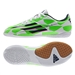 Adidas F5 Youth Indoor Soccer Shoes (White/Rich Blue/Solar Green)