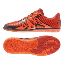 Adidas X 15.3 Youth IC Indoor Soccer Shoes (Bold Orange/White/Solar Orange)