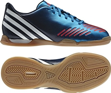 Adidas Predator LZ Youth Indoor Soccer Shoes (Techonix/Bright Blue/Zest)