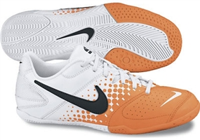 Nike5 Elastico Youth Indoor Soccer Shoes (White/Total Orange/Black)