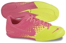 Nike5 Elastico Youth Indoor Soccer Shoes (Volt/Pink Flash)