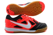 Nike5 Gato Youth Indoor Soccer Shoes (Black/Bright Crimson/White)