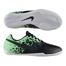 Nike FC247 Elastico II Youth Indoor Soccer Shoes (Black/Neo Lime/White)