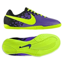 Nike5 Elastico II Youth Indoor Soccer Shoes (Pure Purple/Volt/Black)