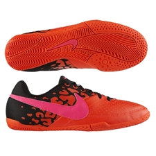 Nike FC247 Elastico II Youth Indoor Soccer Shoes (Total Crimson/Black/Pink Flash)
