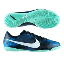 SALE - $38.45 | Nike CR Youth Mercurial Victory IV IC Indoor Soccer Shoes (Dark Obsidian/Green Glow/Black/Metallic Platinum)