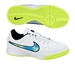 Nike Youth Tiempo Genio IC Indoor Soccer Shoes (White/Soar/Volt)
