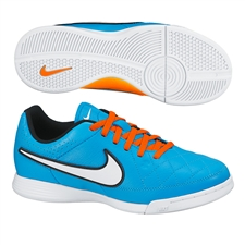 Nike Youth Tiempo Genio Indoor Soccer Shoes (Neo Turquoise/Hyper Crimson/Black/White)