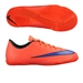 Nike Youth Mercurial Victory V Indoor Soccer Shoes (Bright Crimson/Persian Violet)