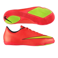 Nike Youth Mercurial Victory V Indoor Soccer Shoes (Hyper Punch/Metallic Gold Coin/Black/Volt)