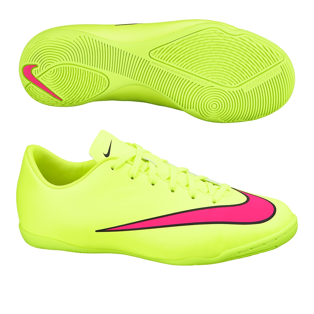 nike youth mercurial victory v indoor soccer shoes volt