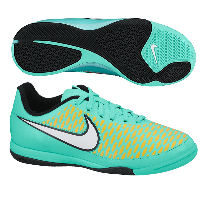 Nike Youth Magista Onda IC Indoor Soccer Shoes (Hyper Turquoise/Laser