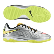 Nike Youth Hypervenom Phelon Premium Indoor Soccer Shoes (Chrome/Metallic Gold Coin/Hyper Pink)