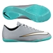Nike Mercurial Victory V CR7 Youth Indoor Soccer Shoes (Metallic Silver/Hyper Turquoise/Black)