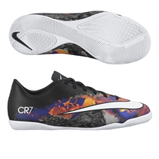 Nike Mercurial Victory V CR7 Youth Indoor Soccer Shoes (Black/Total Crimson/White)