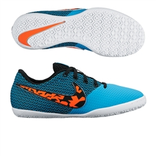 Nike FC247 Elastico Pro III IC Youth Indoor Soccer Shoes (Blue Lagoon/Black/White/Total Crimson)