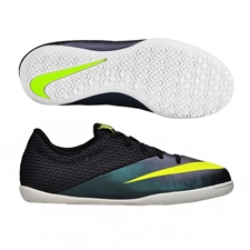 Nike Youth MercurialX Pro Indoor Soccer Shoes (Squadron Blue/Volt/Black)