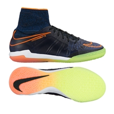 Nike Youth HypervenomX Proximo Street IC Indoor Soccer Shoes (Black/Total Orange/Racer Blue/Black)