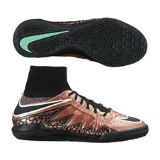 Nike Youth HypervenomX Proximo Indoor Soccer Shoes (Metallic Red Bronze/Black/White)