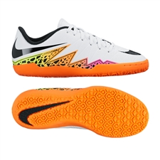 Nike Youth Hypervenom Phelon II Indoor Soccer Shoes (White/Total Orange/Volt/Black)