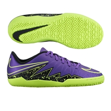 Nike Youth Hypervenom Phelon II Indoor Soccer Shoes (Hyper Grape/Black/Volt)