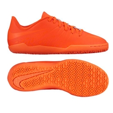 Nike Youth Hypervenom Phelon II Indoor Soccer Shoes (Bright Crimson/Hyper Orange)