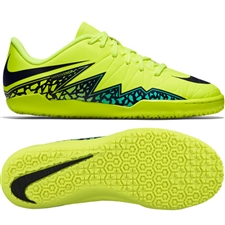 Nike Hypervenom Phelon II Youth Indoor Soccer Shoes (Volt/Hyper Turquoise/Jade/Black)