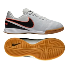 Nike Youth Tiempo Legend VI IC Indoor Soccer Shoes (Pure Platinum/Black)