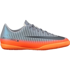 Nike Youth MercurialX Victory VI CR7 IC Indoor Soccer Shoes (Cool Grey/Metallic Hematite/Wolf Grey)