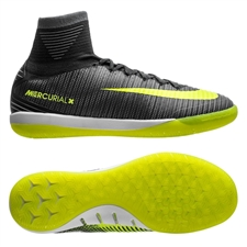 Nike Youth MercurialX Proximo II CR7 IC Indoor Soccer Shoes (Seaweed/Volt/Hasta/White)